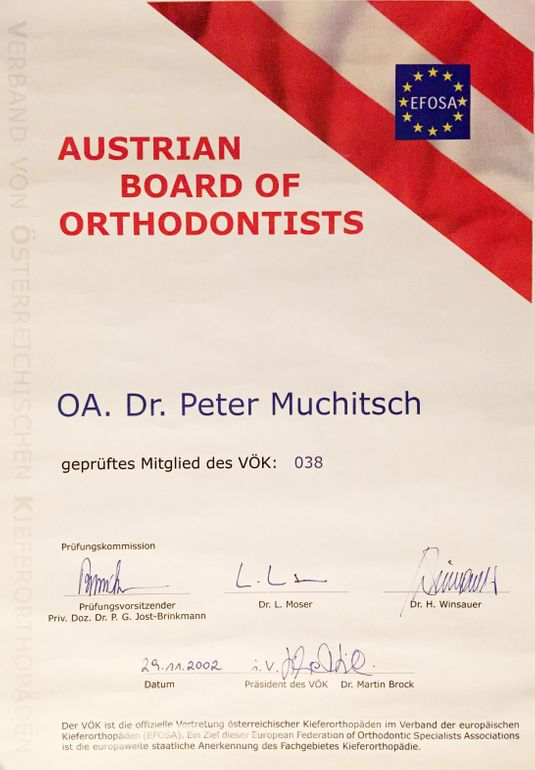 Austrian Board of Orthodontis